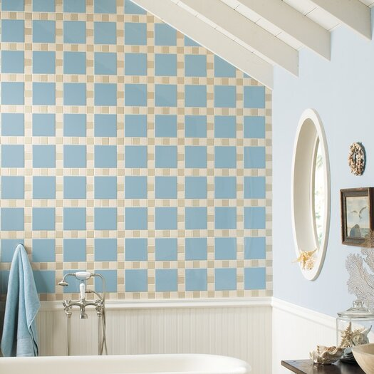"Daltile Permatones 2"" x 2"" Plain Mosaic Field Tile in Matte Urban Putty"