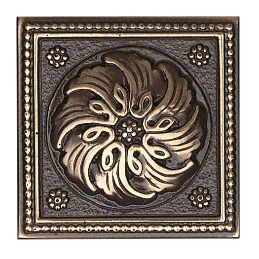 "Daltile Metal Ages 2"" x 2"" Celtic Glazed Decorative Tile Insert in Polished Bronze"