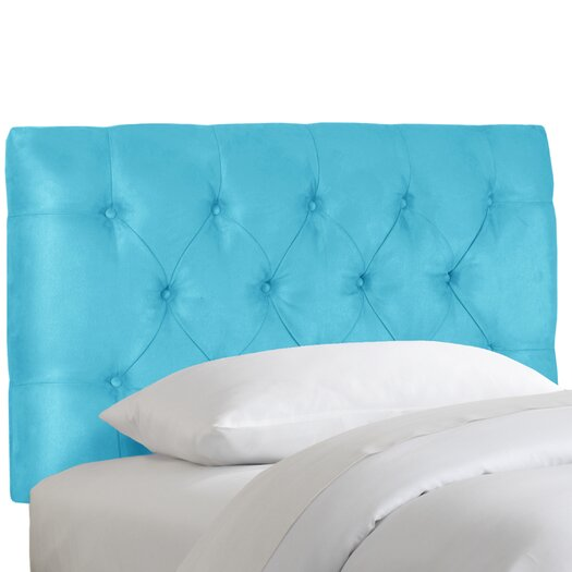 Skyline Furniture Tufted Micro Suede Upholstered Headboard