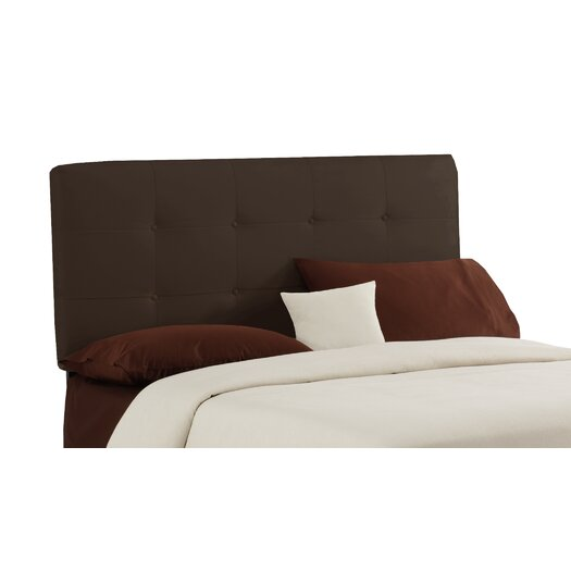 Skyline Furniture Velvet Button Tufted Upholstered Headboard
