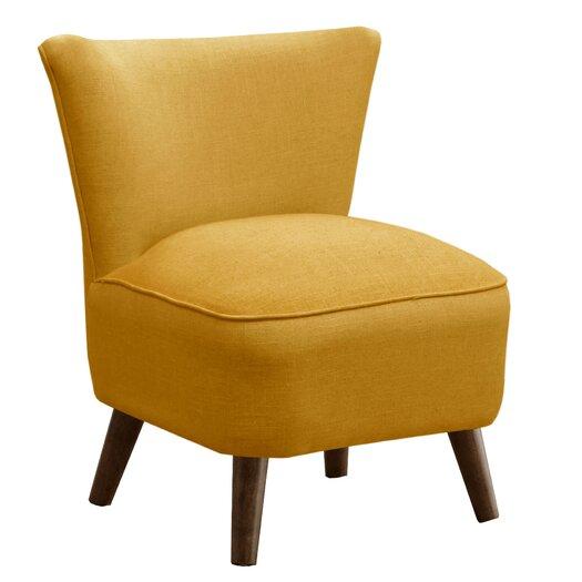Skyline Furniture Linen Mid Century Slipper Chair