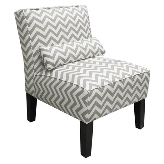 Skyline Furniture Zig Zag Fabric Slipper Chair