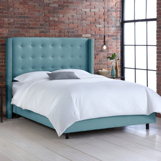 Skyline Furniture Upholstered Wingback Bed