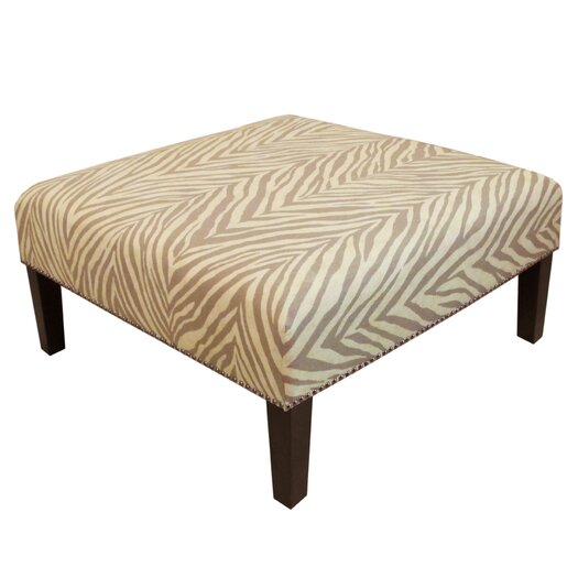 Skyline Furniture Nail Button Ottoman