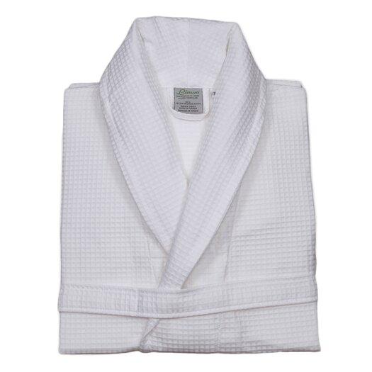 Linum Home Textiles 100% Turkish Cotton Unisex Waffle Weave Bathrobe