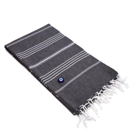 Linum Home Textiles Lucky 100% Turkish Cotton Pestemal/Fouta BeachTowel