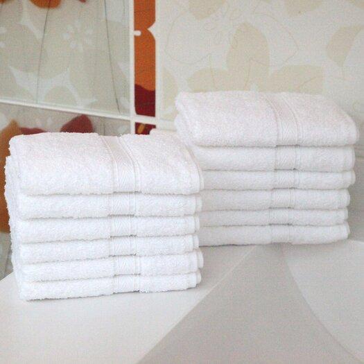 Linum Home Textiles Luxury Hotel & Spa 100% Turkish Cotton Wash Cloth (Set of 12)