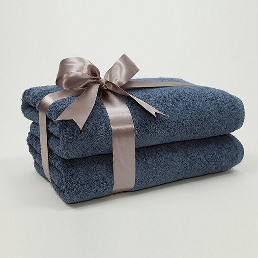 Linum Home Textiles Luxury Hotel & Spa 100% Turkish Cotton Soft Twist Bath Towel (Set of 2)