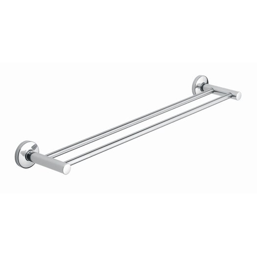"Moda Collection Tekna 23"" Wall Mounted Double Towel Bar"