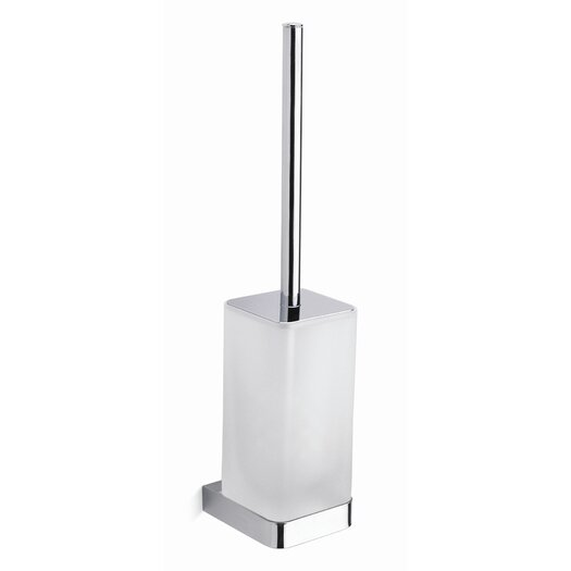 Moda Collection City Wall Toilet Brush in Chrome