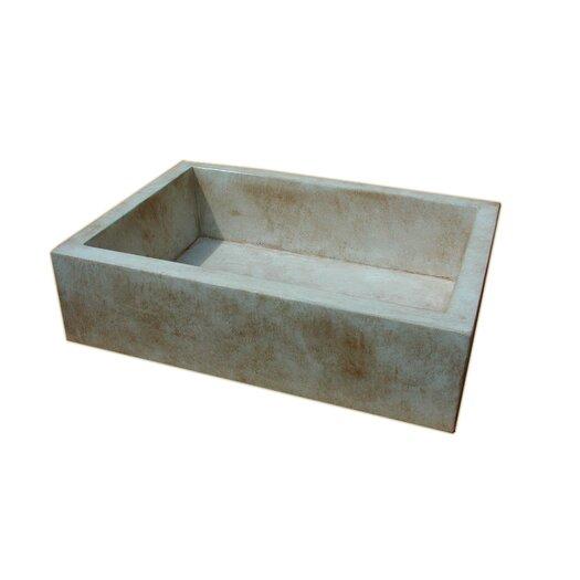 """Moda Collection Farmhouse 33.75"""" x 24"""" Concrete Kitchen Sink"""