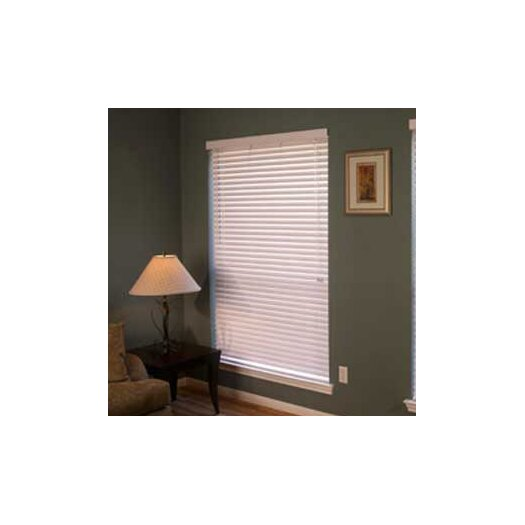 """Fauxwood Impressions Insulation Blind in White - 60"""" H"""