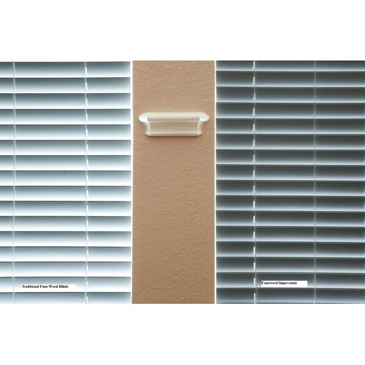 """Fauxwood Impressions Insulation Blind in White - 42"""" H"""