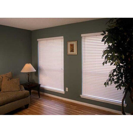 """Fauxwood Impressions Insulation Blind in White - 48"""" H"""