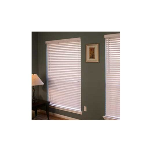 "Fauxwood Impressions Insulation Blind in White - 84"" H"