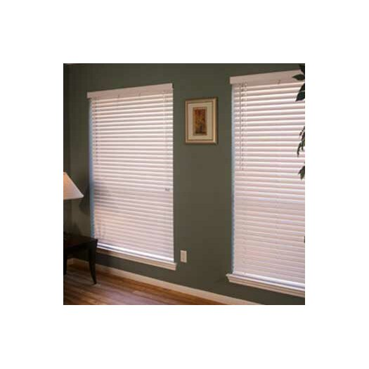 "Fauxwood Impressions Insulation Blind in White - 42"" H"
