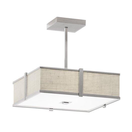 ILEX Lighting Hatbox Square Pendant with Single Stem
