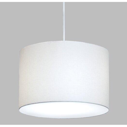 ILEX Lighting Drum Pendant with White Cord