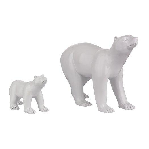 Sterling Industries 2 Piece Polar Bear Figurine Set