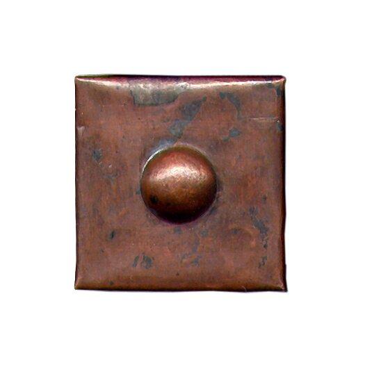 """D'Vontz Grommet 2"""" x 2"""" Copper Border Tile in Dark Copper"""