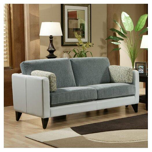 Omnia Furniture Bradford Leather Sofa