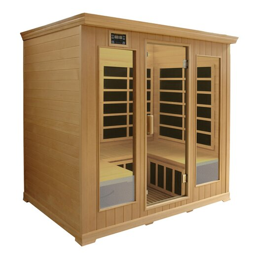 Crystal Sauna Luxury Series 4 Person Carbon FAR Infrared Sauna