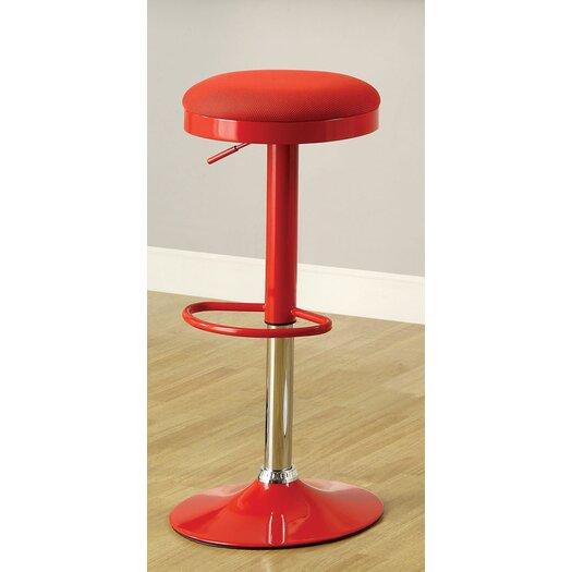 Hokku Designs Adjustable Height Bar Stool with Cushion