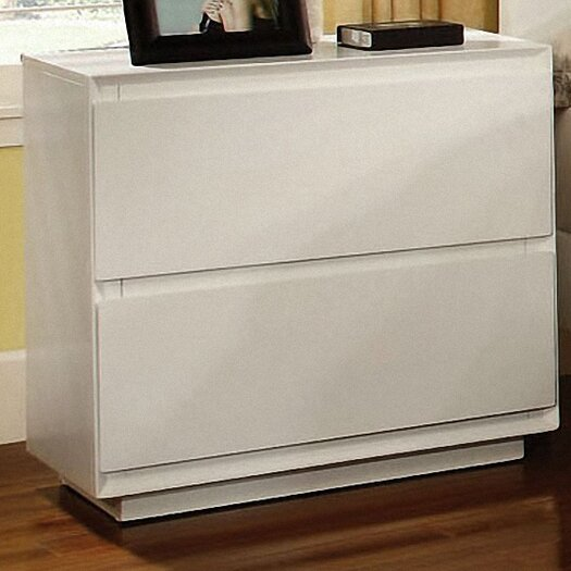 Hokku Designs Pearl 2 Drawer Nightstand