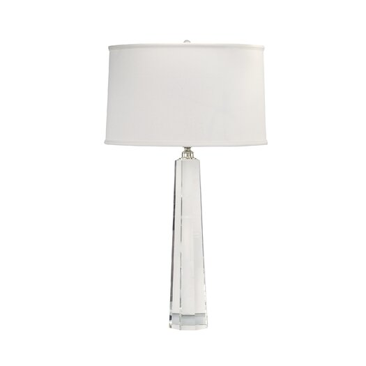 "Lamp Works Crystal Spear 32"" H Table Lamp with Drum Shade"