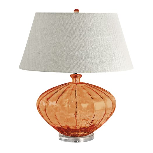 "Lamp Works Melon 25"" H Table Lamp with Empire Shade"