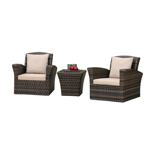 AIC Garden & Casual Maui 3 Piece Seating Group with Cushions