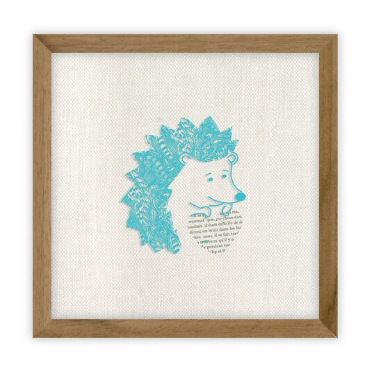 Fable Hedgehog by Erika Kovesdi Framed Graphic Art