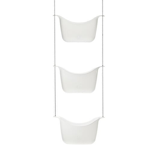 Umbra Bask Shower Caddy in White and Nickel