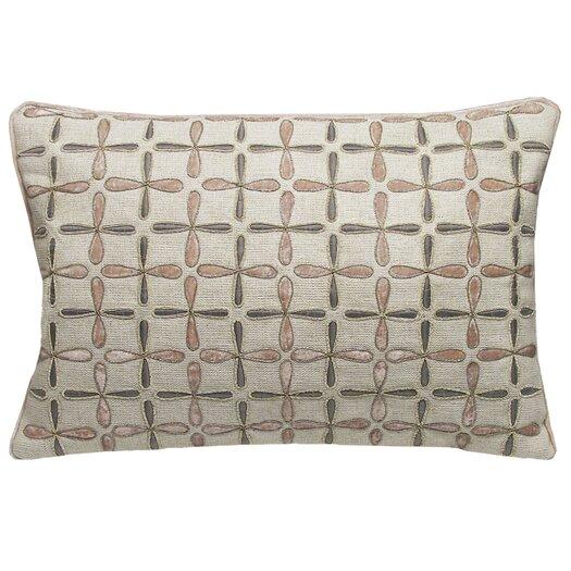 Kevin O'Brien Studio Petals Linen Embellished Decorative Pillow