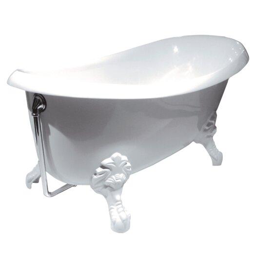 "Aquatica Nostalgia 67"" x 33"" Freestanding EcoMarmor Slipper Tub"