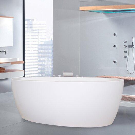 "Aquatica PureScape 65"" x 33"" Freestanding Acrylic Bathtub"