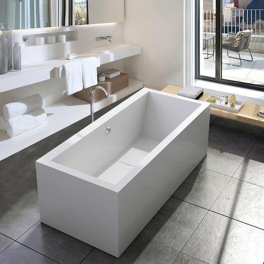 """Aquatica PureScape 71"""" x 32"""" Freestanding AquaStone Bathtub"""