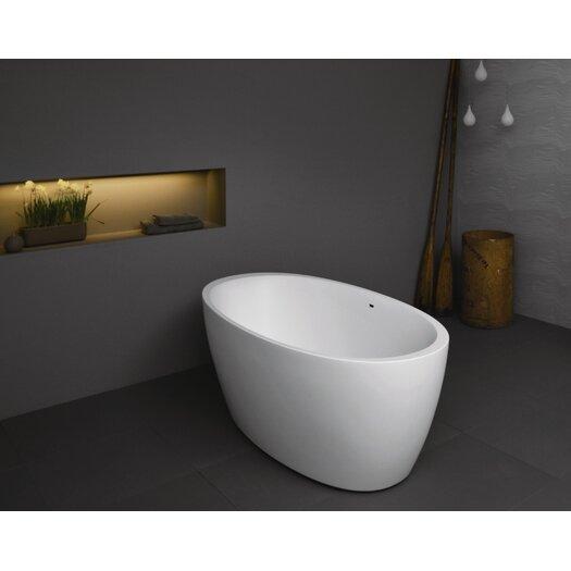 "Aquatica Sensuality 70"" x 35"" Freestanding AquaStone Bathtub"