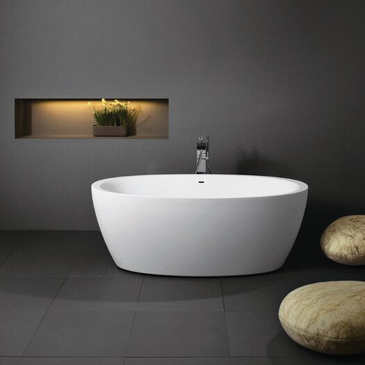 "Aquatica Sensuality 70"" x 35"" Freestanding AquaStone Bathtub"
