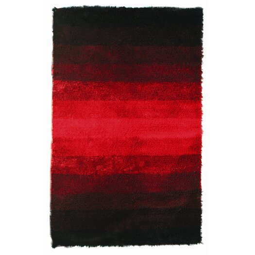 Noble House Jewel Black/Red Rug