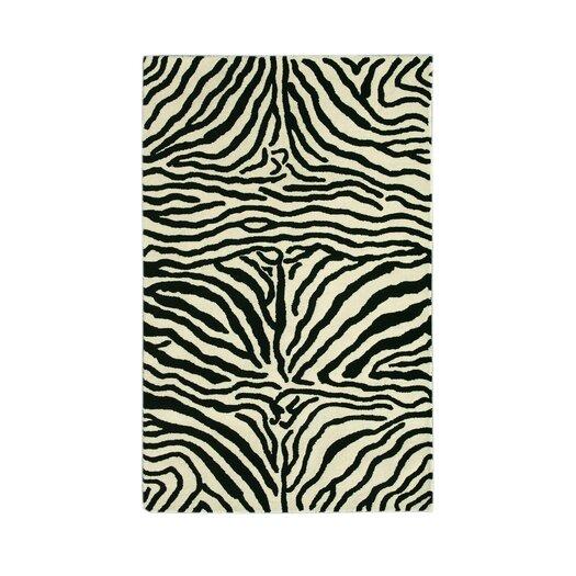 Noble House Safari Black/White Rug