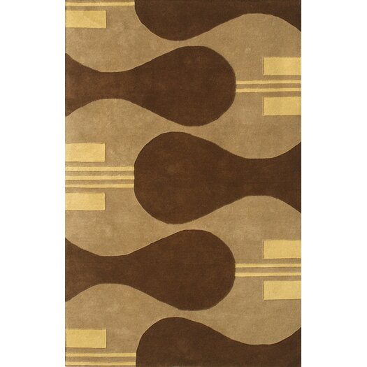 Noble House Eleen Camel/Brown Area Rug
