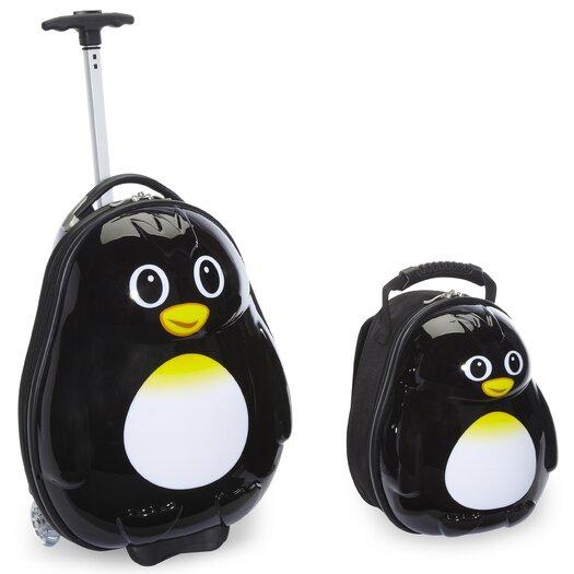 TrendyKid 2 Piece Percy Penguin Children's Luggage Set