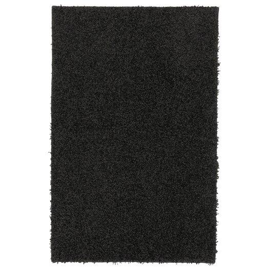 Mohawk Home Super Texture Shag Black Solid Rug