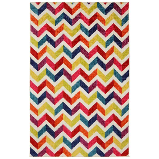Mohawk Home Strata Multi Mixed Chevrons Pricm Area Rug