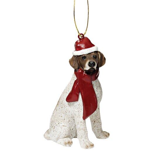Design Toscano Pointer Holiday Dog Ornament Sculpture