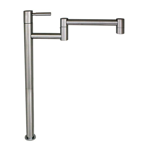 Whitehaus Collection Decohaus Deck Mount One Handle Single Hole Tall Deck Mount Pot Filler Faucet