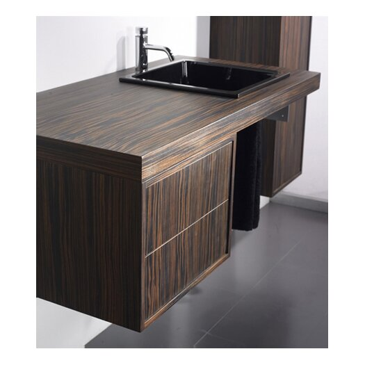 """Whitehaus Collection Aeri 17"""" Wood Unit  Vanity Top with Double Drawer"""