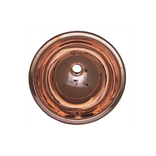 Whitehaus Collection Decorative Drop-in Smooth Round Bathroom Sink