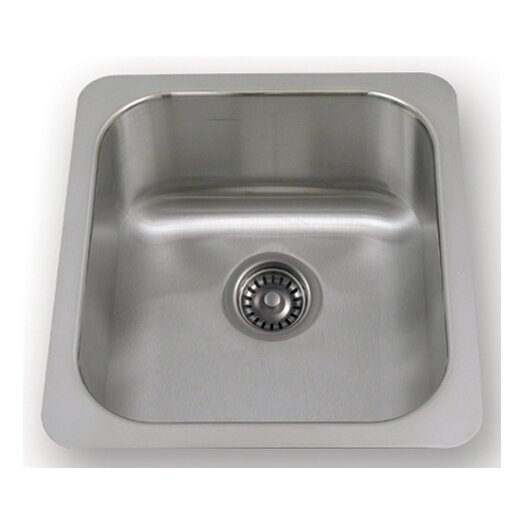 "Whitehaus Collection New England 18.25"" x 16.5"" Undermount Semi Square Kitchen Sink"